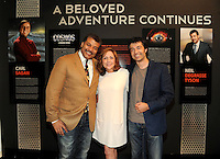 BEVERLY HILLS, CA - AUGUST 3: Neil DeGrasse Tyson, Ann Druyan, and Rainer Gombos attends the Fox And National Geographic Channel Presents A Screening Of 'Cosmos: A Spacetime Odyssey' at The Paley Center for Media on August 3, 2014 in Beverly Hills, California. PGFM/Starlitepics