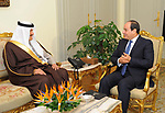 Egyptian Presdient Abdel Fattah al-Sisi meets with Prince Sultan bin Salman bin Abdul Aziz, president of the Saudi Commission for Tourism and Antiquities, in Cairo, Egypt, on December 5, 2017. Photo by Egyptian President Office