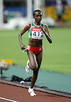 Tirunesh Dibaba of Ethopia won the 10,000m run with a time of 31:55.41 at the 11th. IAAF World Championship being held in Osaka, Japan on Saturday, August 25, 2007. Photo by Errol Anderson,The Sporting Image.