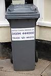 Trade waste refuse bin