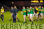 Kerry Manager Jack O'Connor with Kerry players after being defeated by Cork in the U-21 Munster Football Final at Austin Stack Park, Tralee on Thursday evening.