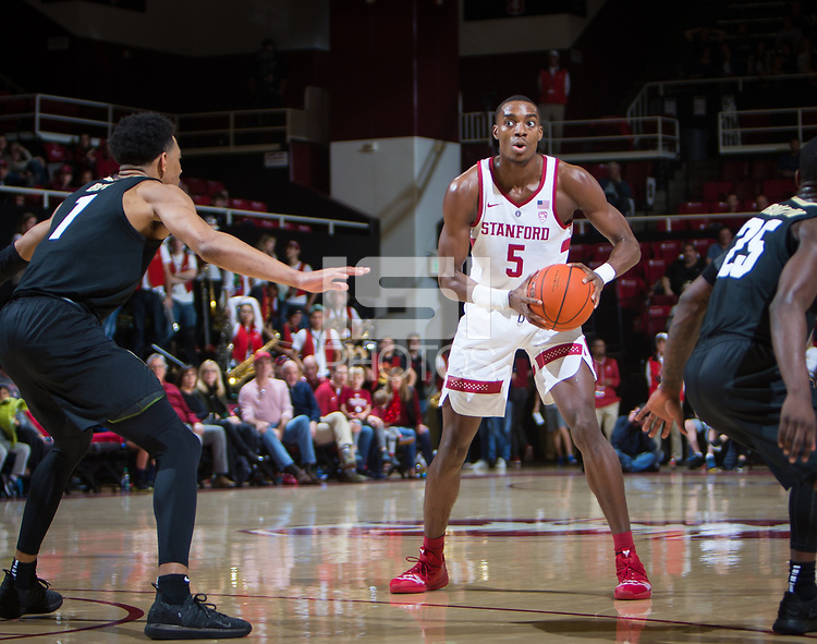 STANFORD, CA - January 26, 2019: Kodye Pugh at Maples Pavilion. The Stanford Cardinal defeated the Colorado Buffaloes 75-62.