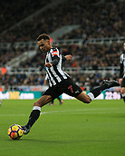 9th December 2017, St James Park, Newcastle upon Tyne, England; EPL Premier League football, Newcastle United versus Leicester City; Jacob Murphy of Newcastle United about to clear the ball