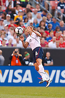 22 MAY 2010:  USA's Ali Krieger #16 during the International Friendly soccer match between Germany WNT vs USA WNT at Cleveland Browns Stadium in Cleveland, Ohio. USA defeated Germany 4-0 on May 22, 2010.