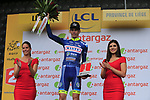 Yoann Offredo (FRA) Wanty-Groupe Gobert wins the day's combativity award at the end of Stage 2 of the 104th edition of the Tour de France 2017, running 203.5km from Dusseldorf, Germany to Liege, Belgium. 2nd July 2017.<br /> Picture: Eoin Clarke | Cyclefile<br /> <br /> <br /> All photos usage must carry mandatory copyright credit (&copy; Cyclefile | Eoin Clarke)