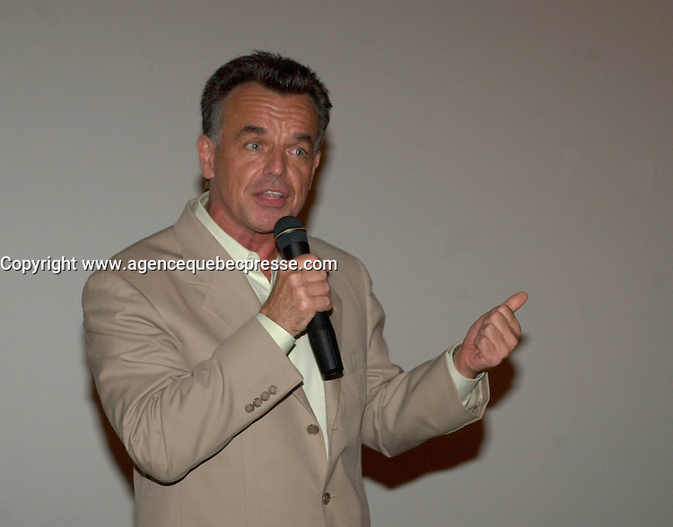 August 8,  2003, Montreal, Quebec, Canada<br /> <br /> Actor Ray Wise (twin peaks) introduce the film JEEPERS CREEPERS 2 at the first and only pre-release projection, August 8 2003<br />  at the Fantasia Film Festival  in Montreal, CANADA.<br /> <br /> Mandatory Credit: Photo by Pierre Roussel- Images Distribution. (&copy;) Copyright 2003 by Pierre Roussel