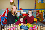 Ciara O'Connor Principal with her new students Basia Witkowska and Richard Rinkevics at Lyreacrompane National School on Tuesday.