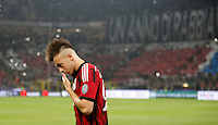 Calcio, Serie A: Milan vs Juventus, Milano, stadio San Siro, 20 settembre 2014.<br /> AC Milan forward Stephan El Shaarawy reacts during the Italian Serie A football match between AC Milan and Juventus at Milan's San Siro stadium, 20 September 2014.<br /> UPDATE IMAGES PRESS/Isabella Bonotto