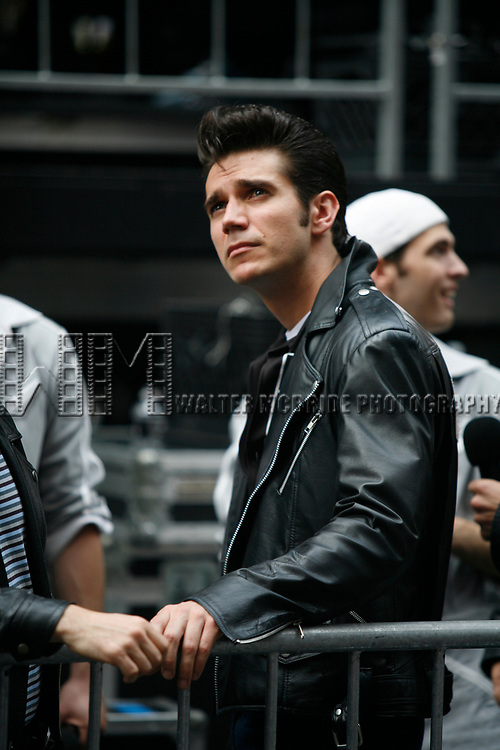Derek Keeling ( GREASE ) attending BROADWAY on BROADWAY 2008 in Times Square, New York City.<br />