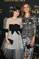 HOLLYWOOD, CA - JULY 9: Zooey Deschanel and Emily Deschanel at The Lion King Film Premiere at El Capitan Theatre in Hollywood, California on July 9, 2019. <br /> CAP/MPIFS<br /> ©MPIFS/Capital Pictures