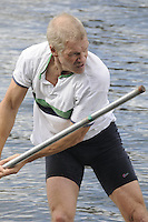 Maidenhead. Great Britain. Amateur Punting Championship, Men's Single. Andy TOMPKINSON,  Thames Punting Club Regatta. River Thames, Bray Reach. Sunday  14/08/2011   [Mandatory credit: Peter Spurrier Intersport Images]