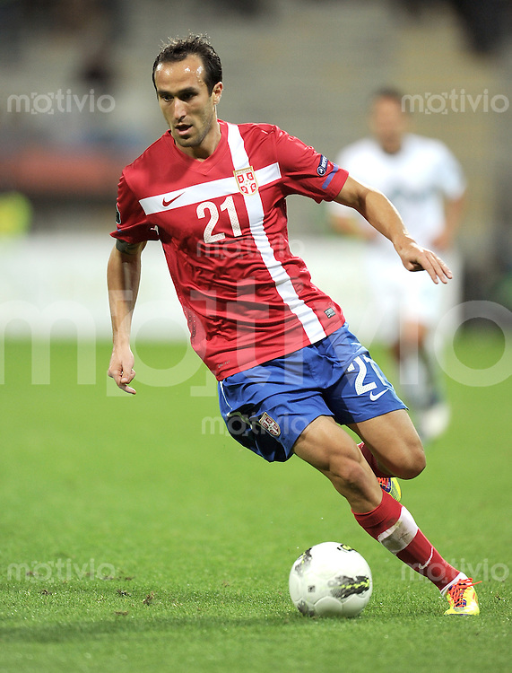 FUSSBALL INTERNATIONAL  Qualifikation Euro 2012  11.10.2011 Slowenien - Serbien Dragan MRDJA (Serbien)
