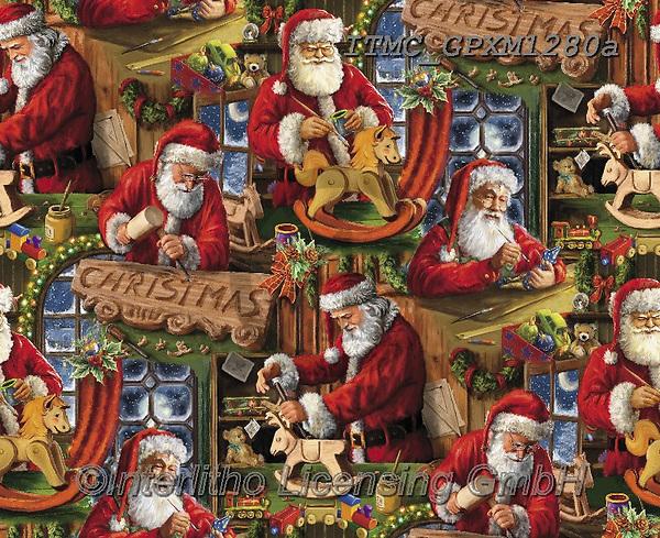 Marcello, GIFT WRAPS, GESCHENKPAPIER, PAPEL DE REGALO, Christmas Santa, Snowman, Weihnachtsmänner, Schneemänner, Papá Noel, muñecos de nieve, paintings+++++,ITMCGPXM1280A,#gp#,#x#