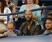 FLUSHING NY- SEPTEMBER 3: Common is sighted watching Serena and Venus Williams Vs Kerlenko Petrova on Armstrong stadium at the USTA Billie Jean King National Tennis Center on September 3, 2012 in in Flushing Queens. Credit: mpi04/MediaPunch Inc. ***NO NY NEWSPAPERS*** /NortePhoto.com<br /> <br /> **CREDITO*OBLIGATORIO** <br /> *No*Venta*A*Terceros*<br /> *No*Sale*So*third*<br /> *** No*Se*Permite*Hacer*Archivo**<br /> *No*Sale*So*third*