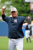 Staten Island Yankees hitting coach Ty Hawkins (52) during first team workout at Richmond County Bank Ballpark at St. George in Staten Island, NY June 15, 2010.  Photo By Tomasso DeRosa/ Four Seam Images