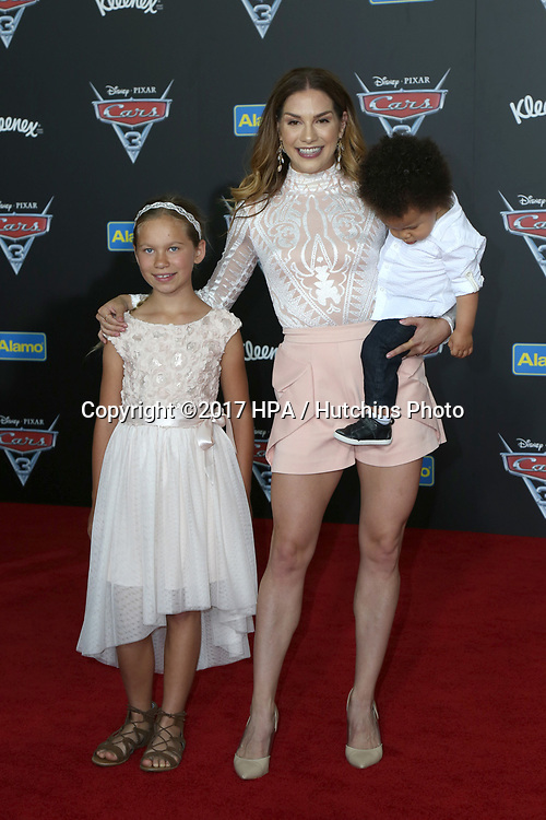 "LOS ANGELES - JUN 10:  Weslie Fowler, Allison Holker, Maddox Laurel Boss at the ""Cars 3"" Premiere at the Anaheim Convention Center on June 10, 2017 in Anaheim, CA"