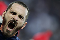 International friendly football match France vs Italy, Allianz Riviera, Nice, France, June 1, 2018. <br /> Italy's Captain Leonardo Bonucci sings the Italy national anthem prior to the international friendly football match between France and Italy at the Allianz Riviera in Nice on June 1, 2018.<br /> UPDATE IMAGES PRESS/Isabella Bonotto
