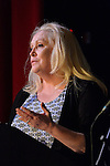 Bellmore, New York, USA. July 21, 2016. Actress CATHY MORIARITY, who was Vikki LaMotta in Raging Bull when she was a teenager, introduces Lifetime Achievement honoree Ed Asner at the 19th Annual Long Island International Film Expo Awards Ceremony, LIIFE 2016, held at the historic Bellmore Movies. LIIFE was called one of the 25 Coolest Film Festivals in the World by MovieMaker Magazine.
