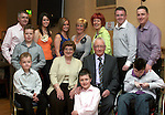 Rose and Patsy Rice with their children and grandchildren at their 50th Wedding Anniversary in The Thatch....Photo NEWSFILE/Jenny Matthews.(Photo credit should read Jenny Matthews/NEWSFILE)....This Picture has been sent you under the condtions enclosed by:.Newsfile Ltd..The Studio,.Millmount Abbey,.Drogheda,.Co Meath..Ireland..Tel: +353(0)41-9871240.Fax: +353(0)41-9871260.GSM: +353(0)86-2500958.email: pictures@newsfile.ie.www.newsfile.ie.FTP: 193.120.102.198.