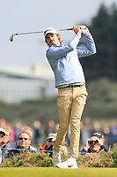 Pedro Figueiredo (POR) on the 2nd tee during Round 3 of the Betfred British Masters 2019 at Hillside Golf Club, Southport, Lancashire, England. 11/05/19<br /> <br /> Picture: Thos Caffrey / Golffile<br /> <br /> All photos usage must carry mandatory copyright credit (&copy; Golffile | Thos Caffrey)