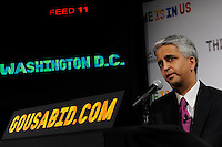 U.S. Soccer President and USA Bid Committee Chairman Sunil Gulati announces Washington D. C. as one of the 18 cities to be submitted to FIFA as part of the bid to host the 2018 or 2022 FIFA World Cup at the ESPN Zone in Times Square, NYC, NY, on January 12, 2010.