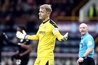 Barnsley's Adam Davies reacts after Referee Simon Hooper reversed his penalty decision when a VAR referral showed Burnley's Matej Vydra was off-side<br /> <br /> Photographer Rich Linley/CameraSport<br /> <br /> Emirates FA Cup Third Round - Burnley v Barnsley - Saturday 5th January 2019 - Turf Moor - Burnley<br />  <br /> World Copyright &copy; 2019 CameraSport. All rights reserved. 43 Linden Ave. Countesthorpe. Leicester. England. LE8 5PG - Tel: +44 (0) 116 277 4147 - admin@camerasport.com - www.camerasport.com