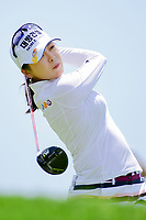Mi Jung Hur (KOR) watches her tee shot on 2 during Sunday's final round of the 72nd U.S. Women's Open Championship, at Trump National Golf Club, Bedminster, New Jersey. 7/16/2017.<br /> Picture: Golffile | Ken Murray<br /> <br /> <br /> All photo usage must carry mandatory copyright credit (&copy; Golffile | Ken Murray)