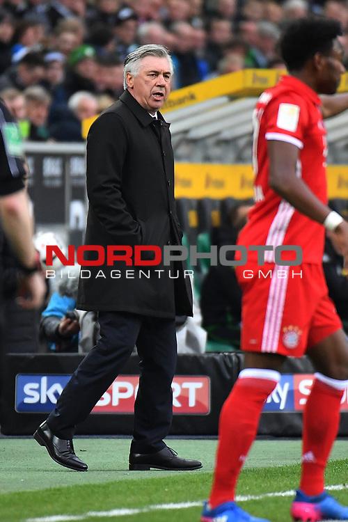 19.03.2017, Borussia-Park, Moenchengladbach, GER, 1.FBL., Borussia M&ouml;nchengladbach. vs. FC Bayern Muenchen<br /> <br /> im Bild / picture shows: <br /> Carlo Angelotti (Trainer FC Bayern Muenchen),Hochformat,<br /> <br /> <br /> Foto &copy; nordphoto / Meuter