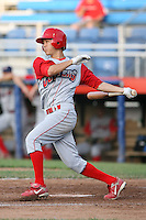 June 27th 2008:  Infielder Troy Hanzawa (5) of the Williamsport Crosscutters, Class-A affiliate of the Pittsburgh Pirates, during a game at Russell Diethrick Park in Jamestown, NY.  Photo by:  Mike Janes/Four Seam Images