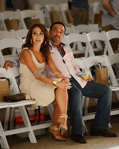 MIAMI BEACH, FL - JULY 22: Melissa Gorga and Joe Gorga attend the L Space By Monica Wise show during Mercedes-Benz Fashion Week Swim 2013 at The Raleigh on July 22, 2012 in Miami Beach, Florida. © mpi04/MediaPunch Inc