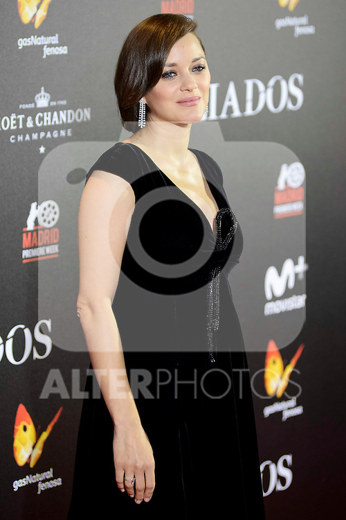"French actress Marion Cotillard attends to the photocall of the premiere of ""Aliados"" in Madrid. November 22, 2016. (ALTERPHOTOS/Borja B.Hojas)"