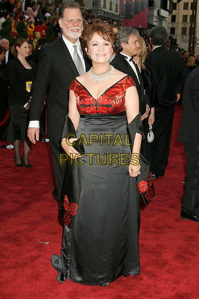 ADRIANNA BARRAZA.The 79th Annual Academy Awards - Arrivals held at the Kodak Theatre. Hollywood, California, USA,.25 February 2007..oscars red carpet full length red and black dress .CAP/ADM/RE.©Russ Elliot/AdMedia/Capital Pictures.