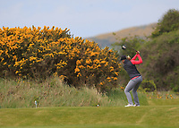 Romy Meekers (NED) on the 18th tee during Round 3 of the Irish Women's Open Stroke Play Championship 2018 on Sunday 13th May 2018.<br /> Picture:  Thos Caffrey / Golffile<br /> <br /> All photo usage must carry mandatory copyright credit (&copy; Golffile | Thos Caffrey)