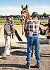 Adrian unsaddling Pontius P at Delaware Park on 9/23/15
