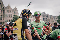 Sep Vanmarcke (BEL/Cannondale-Drapac) relaxed before the start<br /> <br /> 2017 National Championships Belgium - Elite Men - Road Race (NC)<br /> 1 Day Race: Antwerpen &gt; Antwerpen (233km)