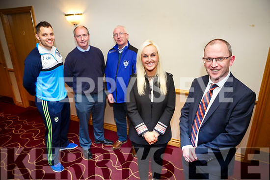 Kerins O'Rahillys host a State of Mind Programme for sports players on Friday November 17th at 8pm by Dr Susan Lawlor and her brother Dr Martin Lawlor here with Kerins O'Rahillys members Gary Kissane, Haulie Kerins and Pat Flavin