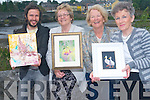 FOR STORY .Laune Art Group are inviting everyone to attend an art exhibition at the CYMS  hall in Killorglin next week which include works from five local artists. .L-R Antanas Burokas, Diana Deering, Eve Bird and Mary Pat O'Sullivan.