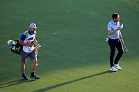 Mike Lorenzo-Vera (FRA) on the 18th fairway during the third round of the DP World Championship, Earth Course, Jumeirah Golf Estates, Dubai, UAE. 23/11/2019<br /> Picture: Golffile | Phil INGLIS<br /> <br /> <br /> All photo usage must carry mandatory copyright credit (© Golffile | Phil INGLIS)