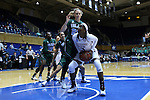 20 March 2015: Mississippi State's Breanna Richardson (3) and Tulane's Danielle Blagg (20). The Mississippi State University Bulldogs played the Tulane University Green Wave at Cameron Indoor Stadium in Durham, North Carolina in a 2014-15 NCAA Division I Women's Basketball Tournament first round game.