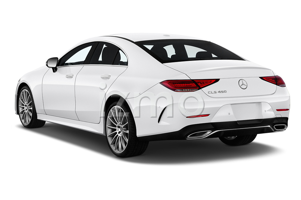 Car pictures of rear three quarter view of a 2019 Mercedes Benz CLS-Coupe CLS450 4 Door Sedan angular rear