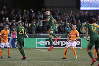 Portland, Oregon - Sunday November 5, 2017: The Houston Dynamo defeated Portland Timbers 2-1 on Aggregate in a playoff Major League Soccer (MLS) match at Providence Park.