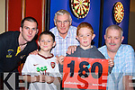 Darts fans hoping to shout 180 at the darts festival in the INEC Killarney on Sunday was l-r: Patrick, Eamon Carey Jnr, James Buckley, Aaron McCann and Eamon Carey Snr Killarney..   Copyright Kerry's Eye 2008