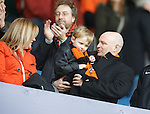 Dundee Utd chairman Stephen Thompson in the stands with the fans