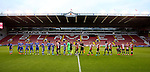 Teams she hands before kick off during the U23 Professional Development League match at Bramall Lane Stadium, Sheffield. Picture date: September 6th, 2016. Pic Simon Bellis/Sportimage