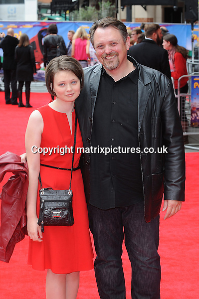 NON EXCLUSIVE PICTURE: PAUL TREADWAY / MATRIXPICTURES.CO.UK<br /> PLEASE CREDIT ALL USES<br /> <br /> WORLD RIGHTS<br /> <br /> American film director Mike Disa attends the World Premiere of Postman Pat: The Movie, Odeon West End, London.<br /> <br /> MAY 11th 2014<br /> <br /> REF: PTY 142244