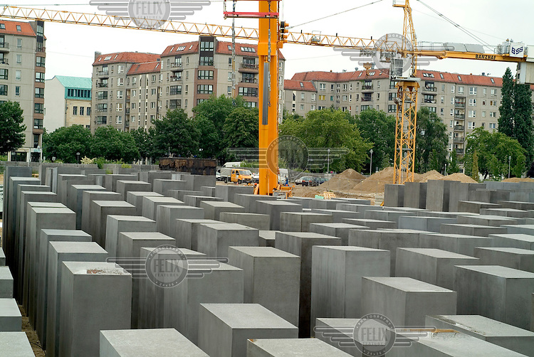 Construction of Peter Eisenmann's Berlin Memorial to Murdered Jews.