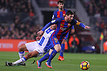 19.02.2017 Barcelona. La liga game 23. Picture show Leo Messi in action during game between FC Barcelona against Leganes at Camp Nou