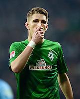 FUSSBALL   1. BUNDESLIGA   SAISON 2012/2013    22. SPIELTAG SV Werder Bremen - SC Freiburg                                16.02.2013 Nils Petersen (SV Werder Bremen) enttaeuscht