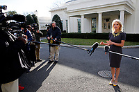 Senior Counselor Kellyanne Conway talks with reporters in the West Wing driveway of the White House, in Washington, D.C., January 9, 2019. Photo Credit: Martin H. Simon/CNP/AdMedia
