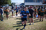 Robert Katu runs out with the Onewhero team for the Counties Manukau Premier Club Rugby game between Onewhero and Pukekohe, played at Onewhero, on Saturday April 05 2014. Onewhero won the game 28 - 23 after leading 17 - 15 at halftime.  Photo by Richard Spranger